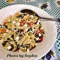 ペスト・パスタサラダのカプレーゼ風味のレシピ