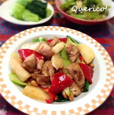 バーベキューチキンの彩り野菜炒め
