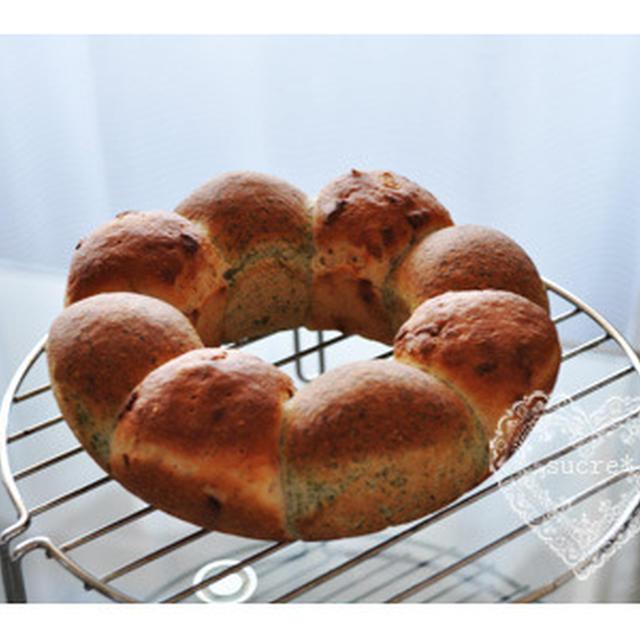 * cuocaレシピコンテスト「クオカ賞・米粉えびのりパン」。 *