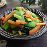 葉っぱ高いよね?青梗菜のナムル♪と 三井生命さま訪問チラシ掲載♪