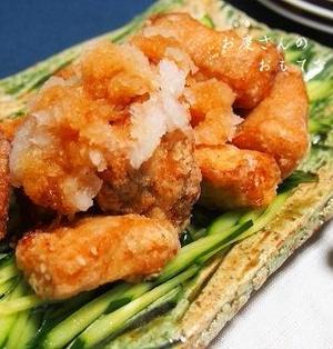 ぶりのおろしポン酢竜田♪ 揚げ焼きで簡単に! お安~い天然ぶり、買ってみました。
