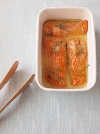 常備魚(保存食)♪♪鮭のマリネ
