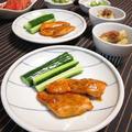 銀鮭のコチュマヨ焼きとたたきゴボウの梅煮