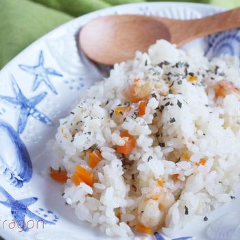 あーもう時間がないって時の大急ぎレシピ!炊飯器で簡単、シーフドピラフ♪とアーユルヴェーダカフェ!
