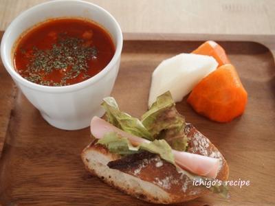 デルモンテ食塩無添加トマトジュースで簡単朝ごぱん