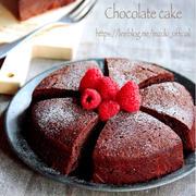 ♡ホットケーキミックスde超簡単♡濃厚チョコレートケーキ♡【#失敗なし#クリスマス#お菓子】