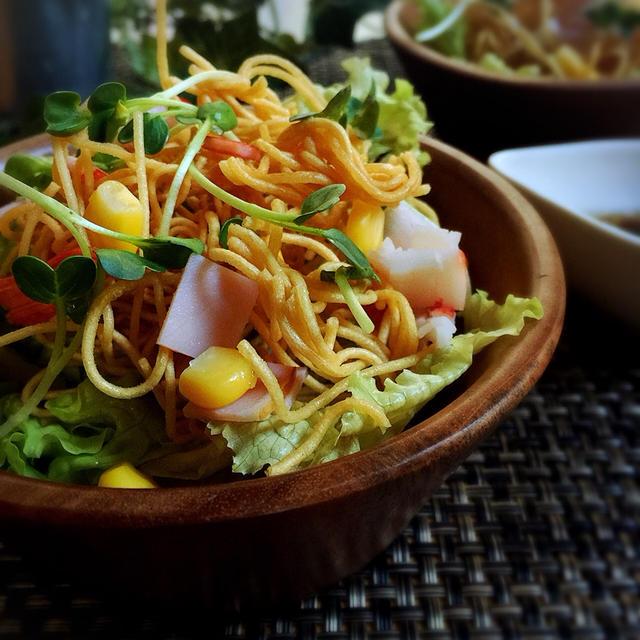 パリパリ素麺サラダ