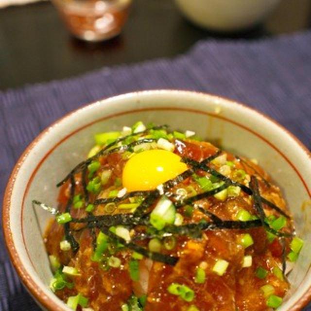 韓国風まぐろのユッケ丼&豚ニラキムチ