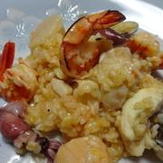 フライパンで簡単魚貝リゾット by miyabiさん