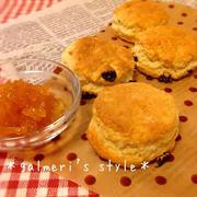 休日のお菓子作り~英国家庭直伝♪イギリス風スコーン