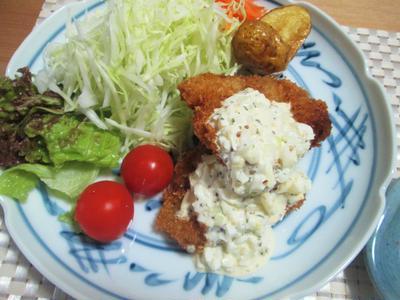 タルタルソース添え鱈フライ & 味噌ヨーグルト漬けその後