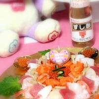 【レシピ】ハーフバースデーのバラのスシケーキ♪