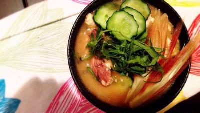 【サクメシ】サバの水煮缶で冷汁