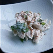 <ヘルシーおつまみレシピ>鶏ささみのクリチ柚子胡椒和え。