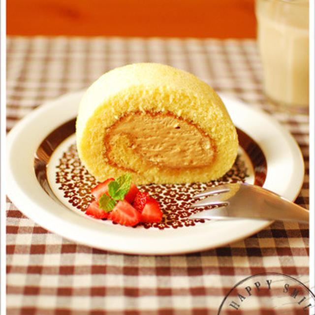 キャラメルクリームのロールケーキ**/ただいま♪