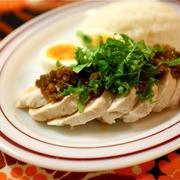 塩麹漬け鶏むね肉でアジアンご飯。