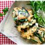 節約レシピ*たーっぷり5人分♪鶏胸肉と長芋の落とし焼きと2日分の夫弁当。