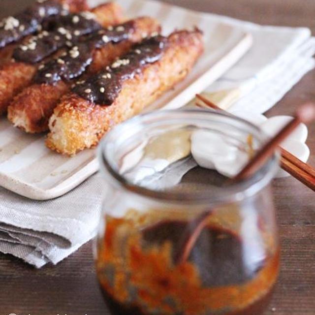 魚肉ソーセージで*おつまみに最高♡味噌カツ風魚肉ソーセージフライ♡