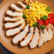 メシ通!鶏むね肉をオーブントースターでチーズ焼きにします。