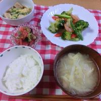 エビとブロッコリーの塩麹炒め
