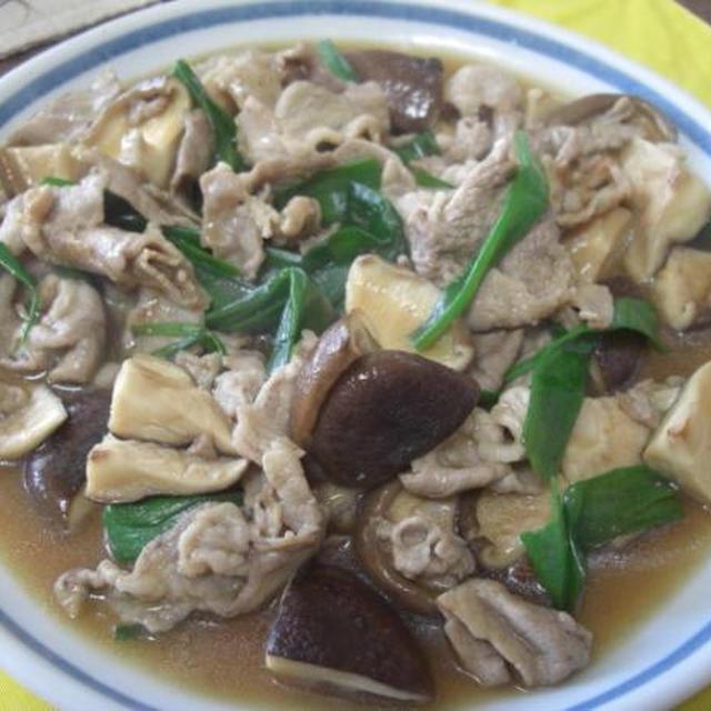 豚肉と椎茸のオイスターソース炒め