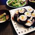 1日早いのですが節分巻き寿司と鰯はオイルサーディンフリットで♪