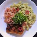 赤魚の干物と梅パスタ