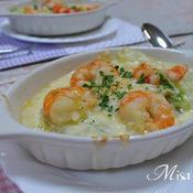 海老と白菜のグラタン