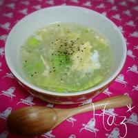 レタスと卵のとろみスープ