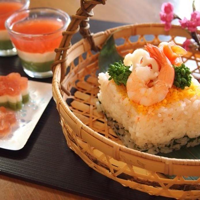 お祝いごとにぴったり!ひなまつりのひし形ちらし寿司