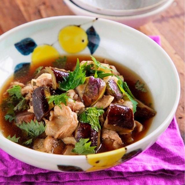 ♡じゅわっと染みうま♡豚肉となすの和風煮♡【#簡単レシピ#時短#節約#作り置き】