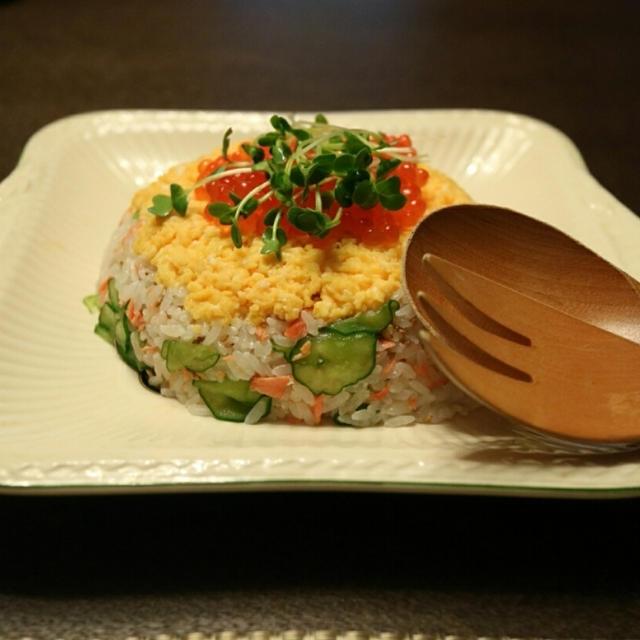 鮭のドーム寿司♪