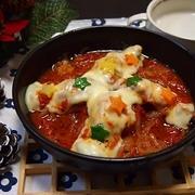 バジルン香る♡手羽元のトマトソース煮のオーブン焼き