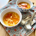 *ふんわり卵とトマトの豆板醤スープ