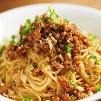 汁なし担々麺、チューブ入り練りごまで簡単レシピ