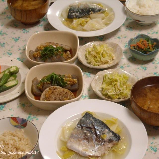 鯖と白菜の塩麹蒸し。
