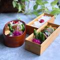 ハンバーグ弁当と紫キャベツのサラダ!