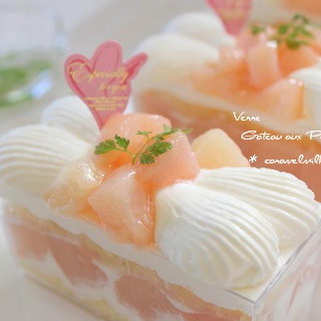 桃のカップ・ショートケーキ(桃のお菓子)