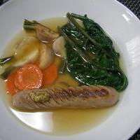 ソーセージと焼き野菜のスープ