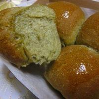 ほうれん草&ライ麦のシンプルちぎりパン♪