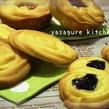 ロシアケーキと同じ生地からクッキー