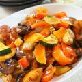 豚小間肉と夏野菜の黒酢酢豚