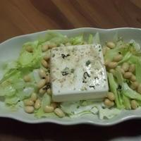 わかめスープで豆腐サラダ 【「わかめスープ」レシピモニター参加中】