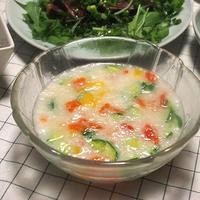 長芋の冷製スープ〈ヤマキだし部〉