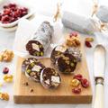 【レシピ】ナッツとドライフルーツのチョコレートサラミ