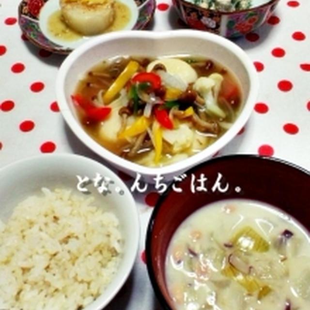 素麺&豆腐でお団子のあんかけ