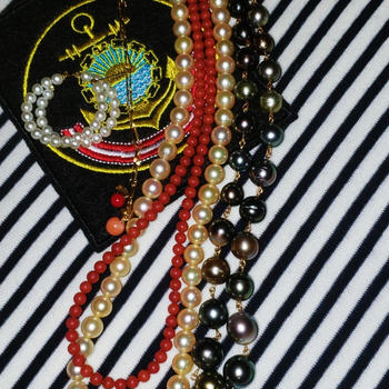 真珠と珊瑚 マリン