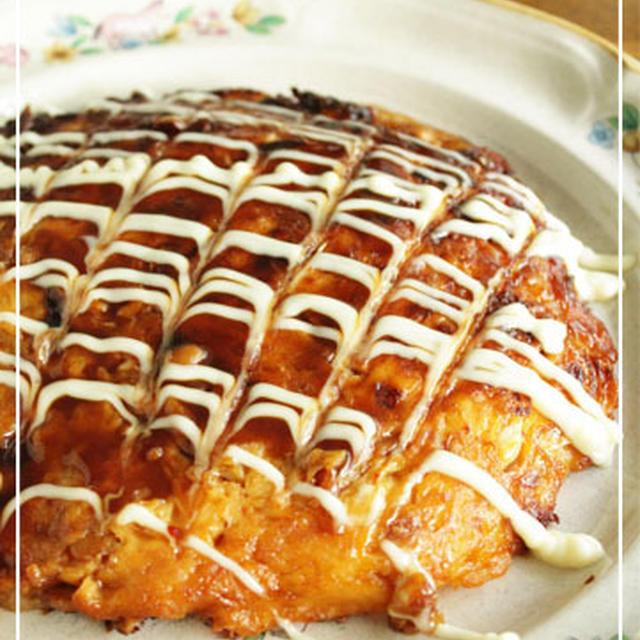 納豆キムチーズ餅お好み焼き