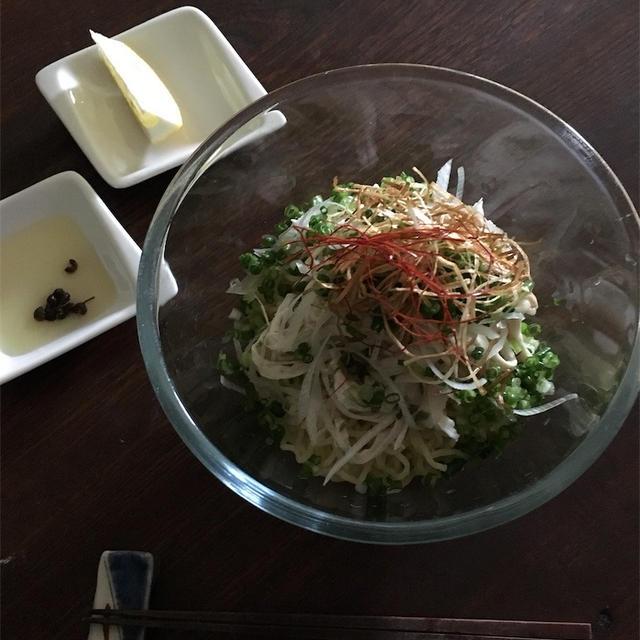 マミレとダラケ【ネギ塩鶏冷麺】