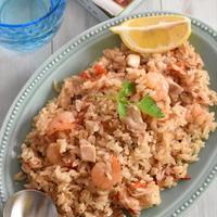 鶏肉とトマトのパエリア風炊き込みご飯